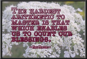 """The hardest arithmetic..."" ~ Eric Hoffer ~"