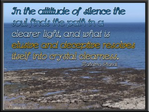 """In the attitude of silence..."" ~ Mahatma Gandhi ~"